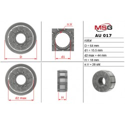 Power steering pump rotors AU 017 ROTOR