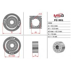 Power steering pump rotors FO 001 ROTOR