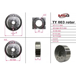 Power steering pump rotors TY 003 ROTOR