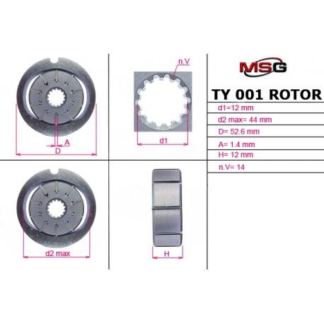 Power steering pump rotors TY 001 ROTOR - 1