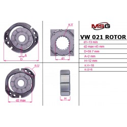 VW 021 ROTOR – Power steering pump rotor