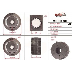 ME 018 ROTOR D – Power steering pump rotor