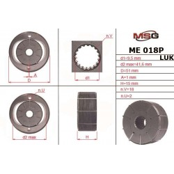 ME 018 ROTOR P – Power steering pump rotor
