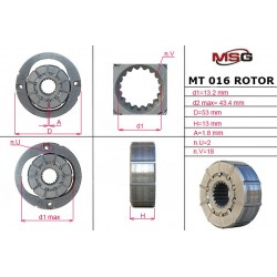 MT 016 ROTOR – Power steering pump rotor