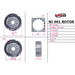 Power steering pump rotors NI 001 ROTOR
