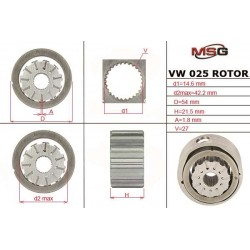 Power steering pump rotors VW 025 ROTOR