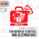 "Turnkey business ""Complete set"" for repair of starters and alternators"
