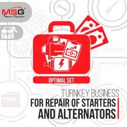 Turnkey business «Optimal set-2»* for repair of starters and alternators
