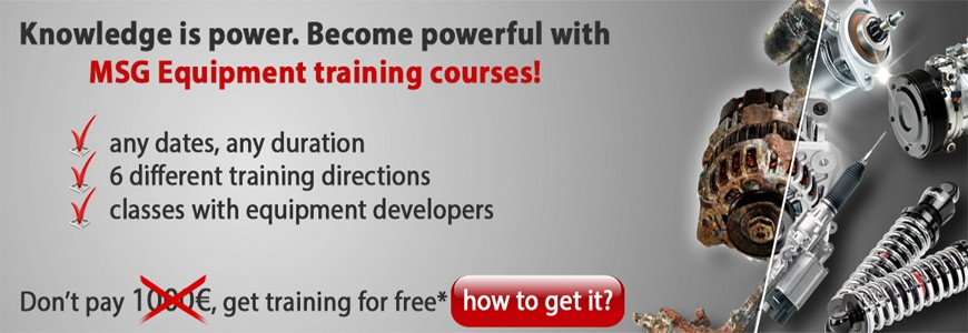 TRAINING COURSES WITH MSG EQUIPMENT