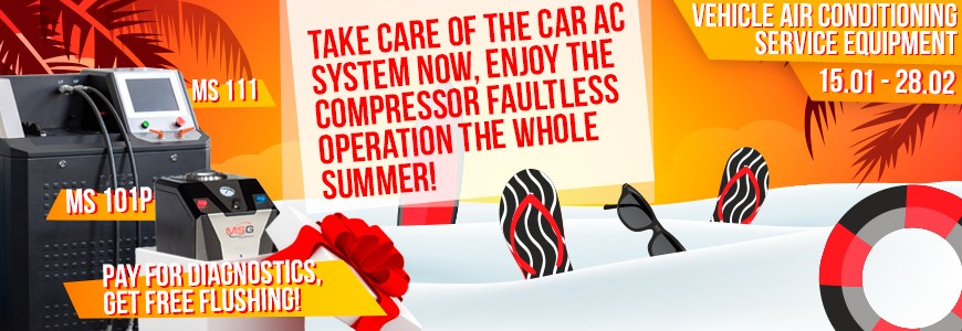 Special offer on automotive air conditioning system service equipment